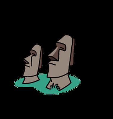 Landmarks - Easter Island | Clipart