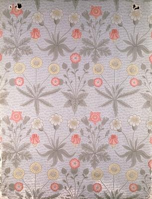 'Daisy' wallpaper design, from a folio of designs by William Morris, 1864