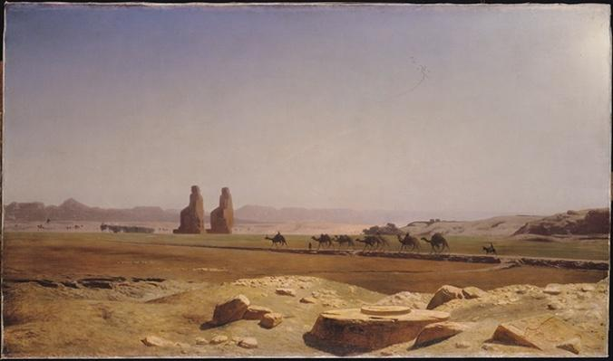 The Plain of Thebes in Upper Egypt, 1857