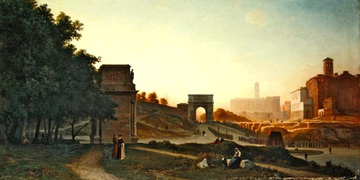 The Forum at sunset, 1865