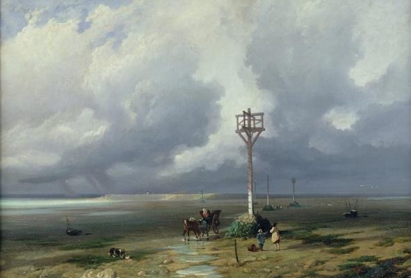 The Passage du Gois at Noirmoutier, 1859