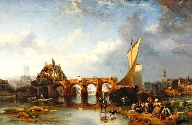 The Pont des Treilles on the river Maine at Angers