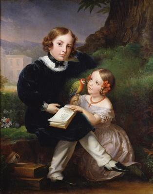 Portrait of the children of Pierre-Jean David d'Angers