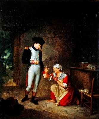 Napoleon visits a peasant in the outskirts of Brienne, 4th August, 1805