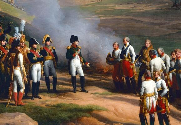 Detail from The Surrender of Ulm, 20th October, 1805 - Napoleon and the Austrian generals, 1815