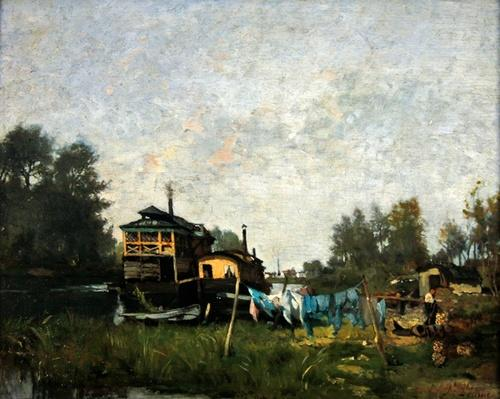 Laundresses' boat on the Seine
