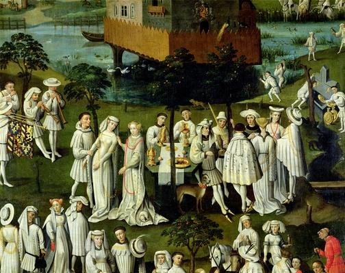 The Garden of Love at the Court of Philip the Good, in the Gardens of the Chateau de Hesdin in 1431