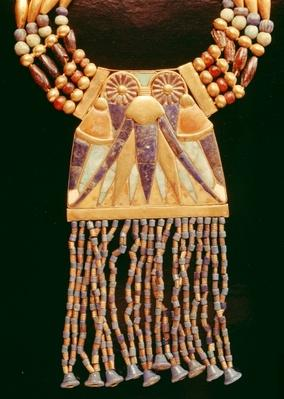 Necklace with lunar pectoral, from the Tomb of Tutankhamun, New Kingdom