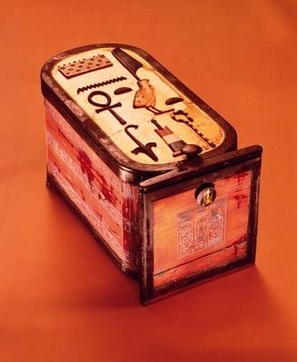 Cartouche-shaped box, from the Tomb of Tutankhamun, New Kingdom