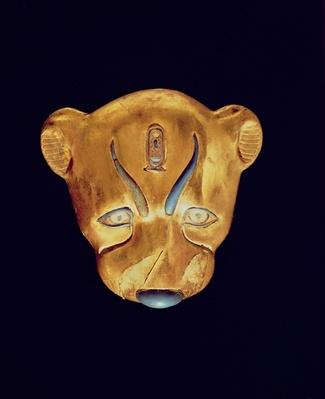 Leopard's head, from the Tomb of Tutankhamun, New Kingdom