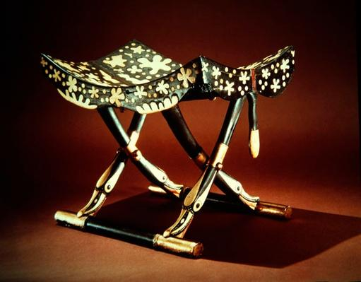 Model folding stool, from the Tomb of Tutankhamun, New Kingdom