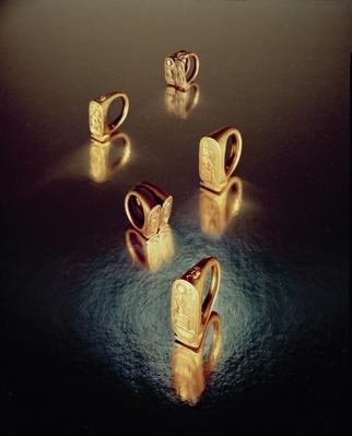Five rings, from the Tomb of Tutankhamun, New Kingdom