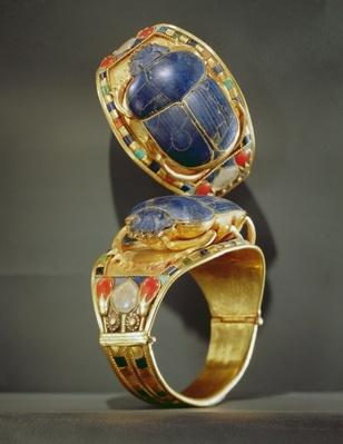 Scarab bracelet, from the Tomb of Tutankhamun, New Kingdom