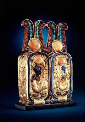 Unguent box in the form of a double royal cartouche, from the tomb of Tutankhamun, New Kingdom