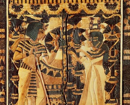Top panel from a coffer, from the Tomb of Tutankhamun, New Kingdom