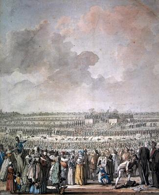 The Festival of the Federation at the Champ de Mars, 14 July 1790