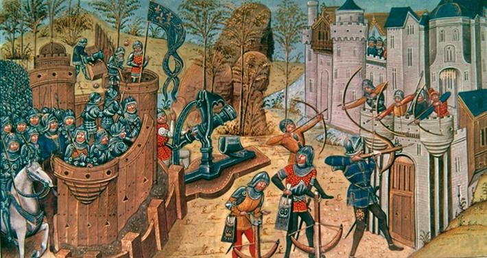 Ms Royal 14 E iv Fifteenth century Flemish Siege