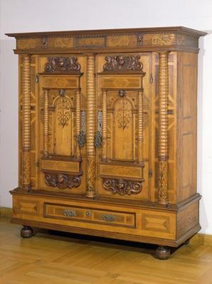 Cupboard with seven columns, c. 1665
