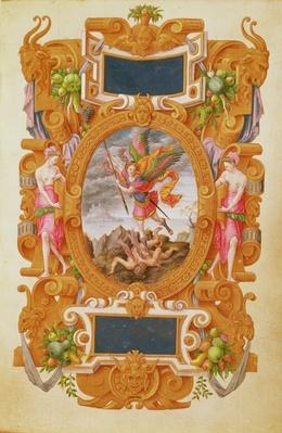 The archangel Saint Michael defeats the dragon