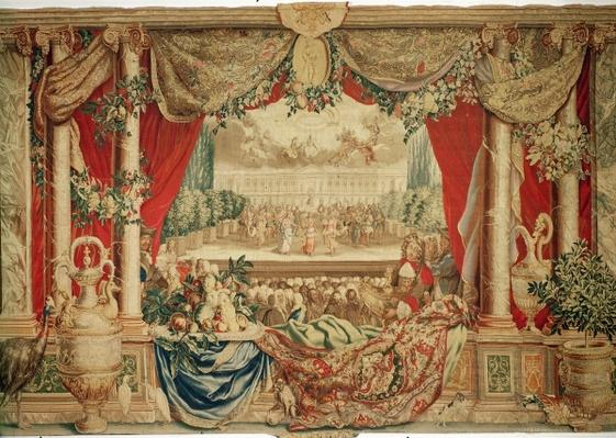 The Month of January/ The Louvre, from the series of tapestries 'The Months or Royal Residences', produced in the Gobelins Workshop for Louis XIV