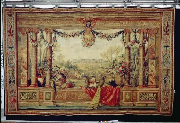The Month of April/ Chateau of Versailles, from the series of tapestries 'The Months or Royal Residences', produced in the Gobelins Workshop for Louis XIV