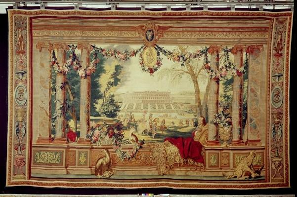 The Month of May/ Chateau of Saint-Germain-en-Laye, from the series of tapestries 'The Months or Royal Residences', produced in the Gobelins Workshop for Louis XIV
