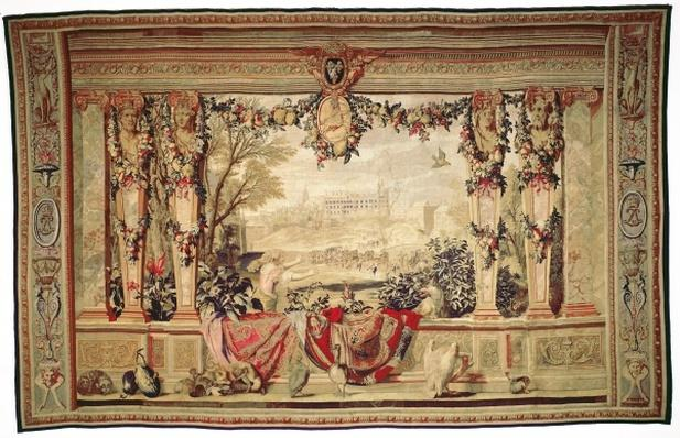 The Month of November/ Chateau of Blois, from the series of tapestries 'The Months or Royal Residences', produced in the Gobelins Workshop for Louis XIV