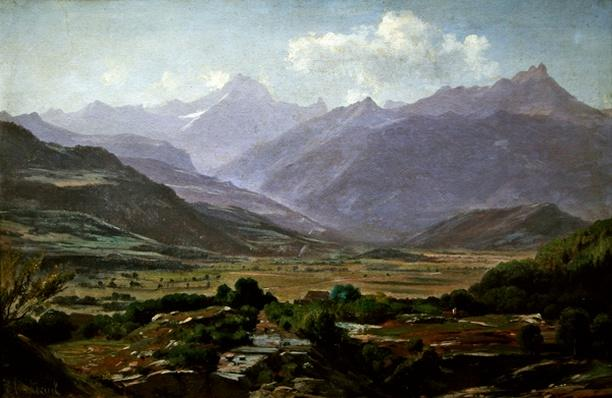 A valley at dawn, 1852