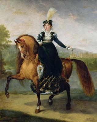 Equestrian portrait of Catherine de Wurtemberg