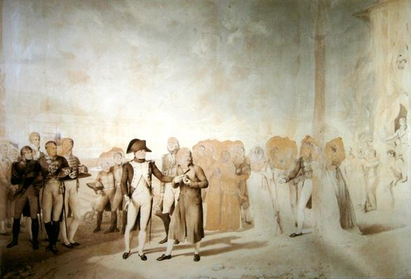 Napoleon visits the factory at Jouy-en-Josas, 20th June, 1806