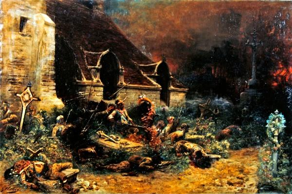 The Chouans defending their dead, 1902