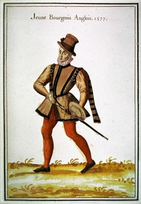 Costumes of the countries of the north - a young English citizen, 1577