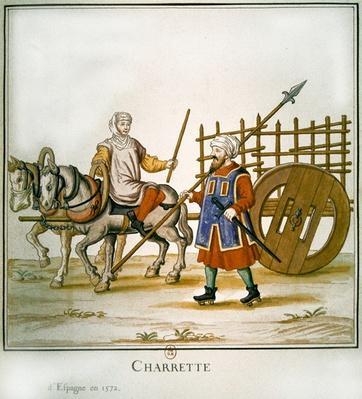 Spanish cart, 1672