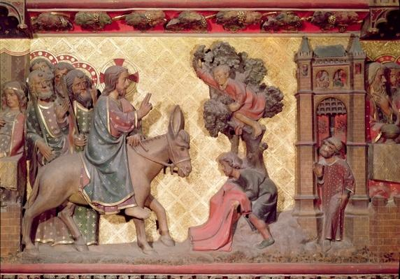 Detail of the entry of Christ into Jerusalem, 1340-51