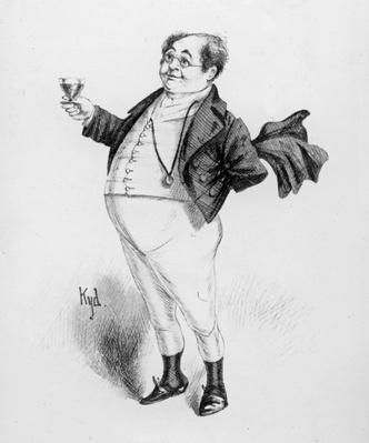 Mr. Pickwick, a character from 'The Pickwick Papers' by Charles Dickens