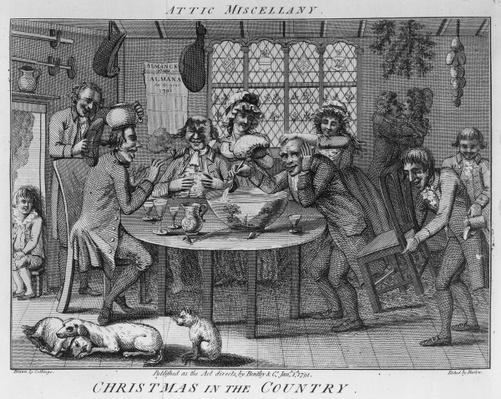 Christmas in the Country, engraved by Inigo Barlow, 1791