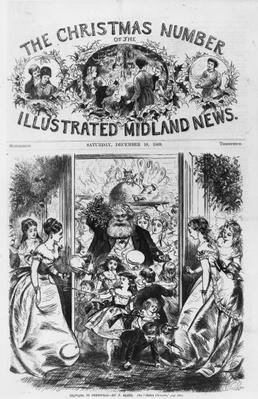 Bringing in Christmas, front cover of the 'Illustrated Midland News', December 18th 1869