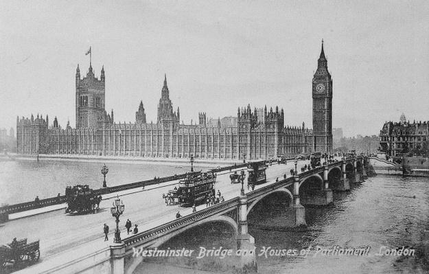 Westminster Bridge and the Houses of Parliament, c.1902