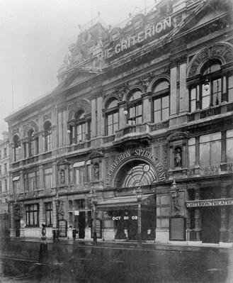 The Criterion Restaurant and Theatre, 1902