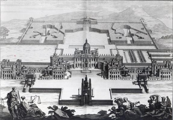 Castle Howard, from 'Vitruvius Britannicus' by Colen Campbell, engraved by Hendrik Hulsbergh, c.1718-20