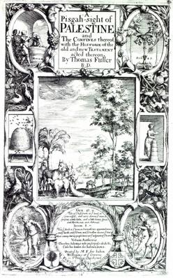 Title-page to 'A Pisgah-sight of Palestine' by Thomas Fuller published in 1650