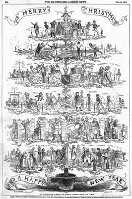 The Christmas Tree, as seen by the father of a family, illustraion from 'The Illustrated London News', December 24th 1853