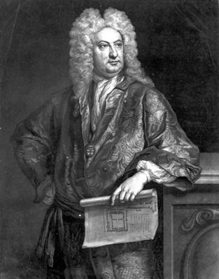 Sir John Vanbrugh, engraved by John Faber the Younger, 1727