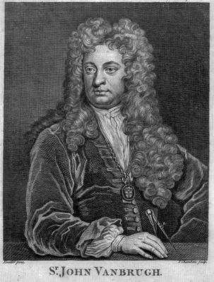 Sir John Vanbrugh, engraved by Thomas Chambars