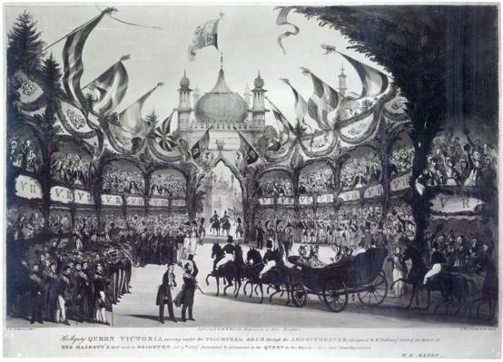 Queen Victoria's first visit to Brighton, engraved by George Bryant Campion, 1837