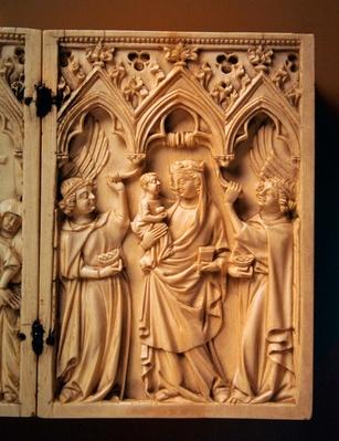 Standing Virgin and Child with Angels, second quarter of the 14th century