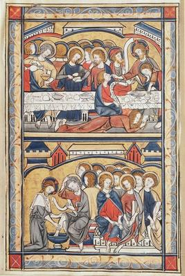 The Last Supper and the Washing of the Feet, c.1260