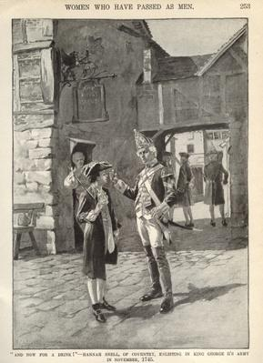 Hannah Snell, enlisting in King George II's Army, illustration from 'Munsey's Magazine'