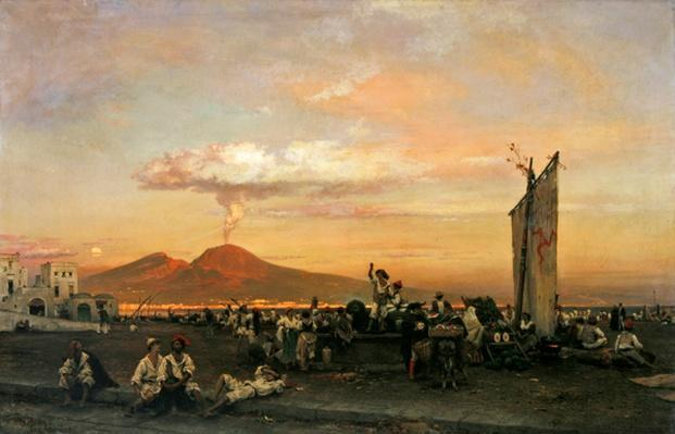 Quayside at Naples, 1859