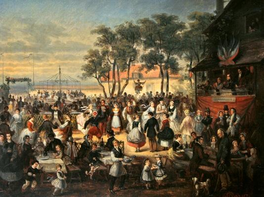 A fete at Saint-Cloud c.1860